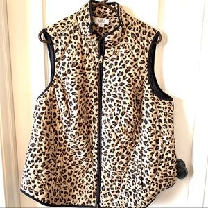 CROFT & BARROW Leopard Print Quilted Vest—SZ. 1X